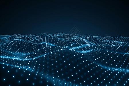 3d科技粒子空间背景图片