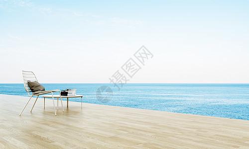 创意海边度假场景图片