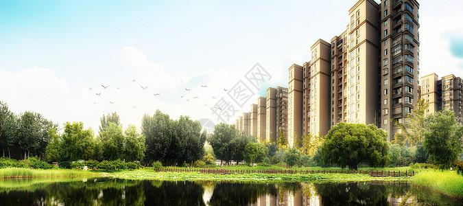房地产海报背景图片
