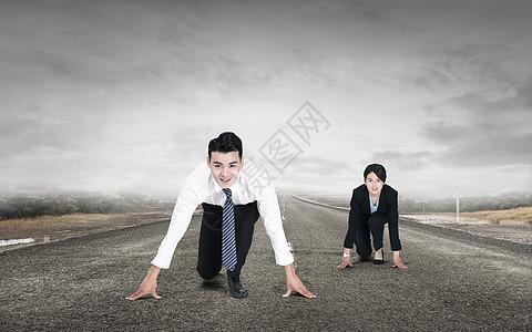 商务人士起跑图片
