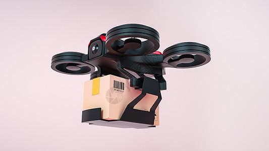 无人机送货场景图片