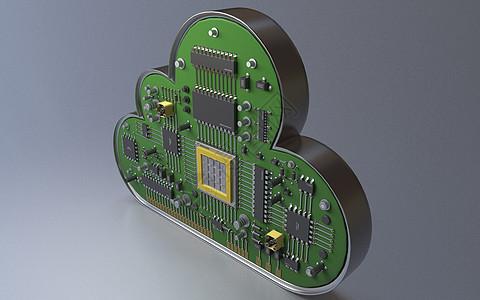 创意3D云芯片图片