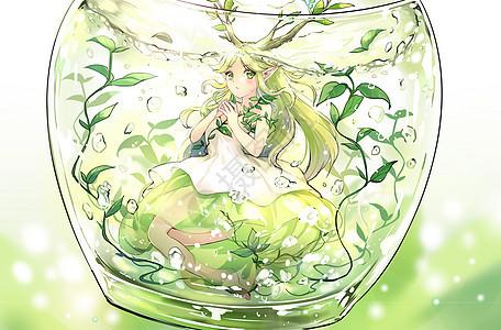 瓶中世界小树妖的好奇图片
