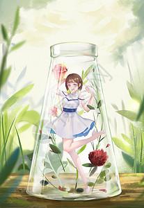 瓶中世界-玫瑰少女的愉悦图片