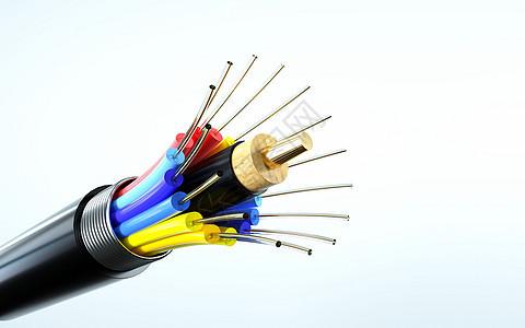 3d光缆光纤海报背景图片