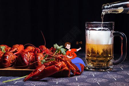 夏日吃饱喝足的男子图片
