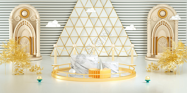金色大气电商背景图片