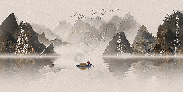中国风山水画图片