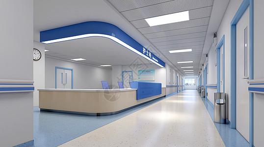3d医疗医院海报背景图片