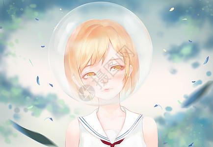 瓶中世界-水手少女的害羞图片