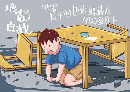 地震自救图片