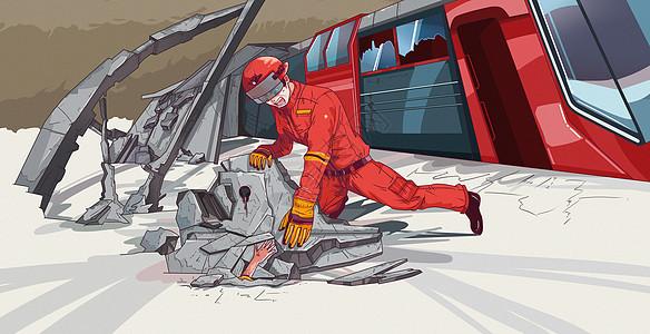 地震救援图片