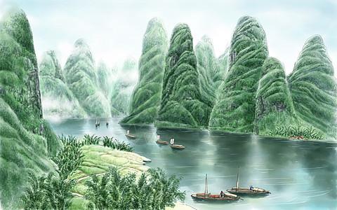 漓江山水图片