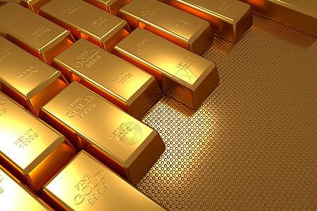 财富金砖背景图片