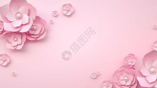 浪漫花语浮雕背景图片
