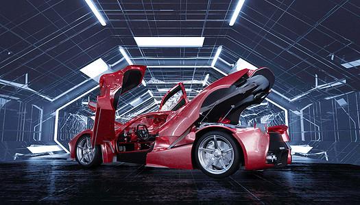 创意汽车展示场景图片