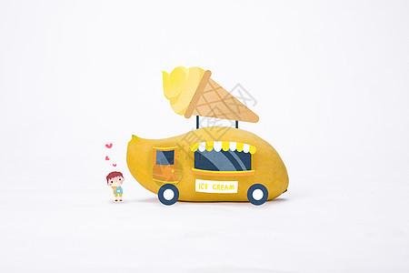 夏日冰淇淋车图片