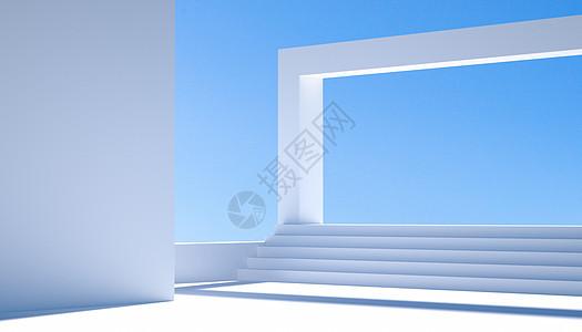 C4D大气白色场景图片