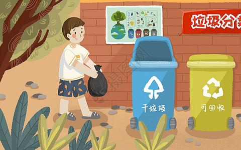 居民垃圾分类图片