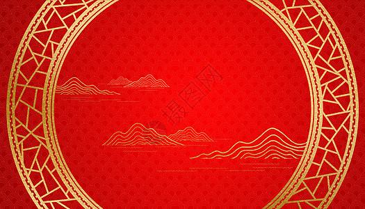 中国风金色边框图片
