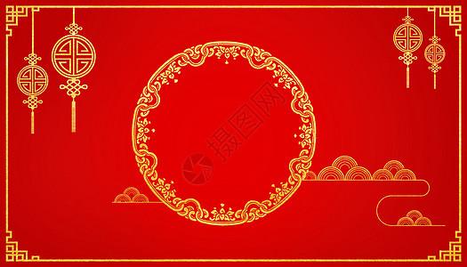 大气红金背景图片