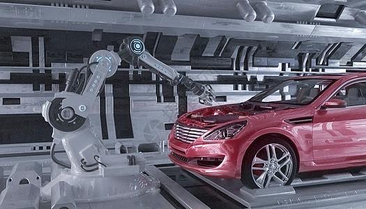 智能汽车工厂场景图片