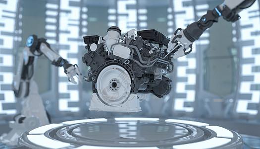 智能维修发动机图片