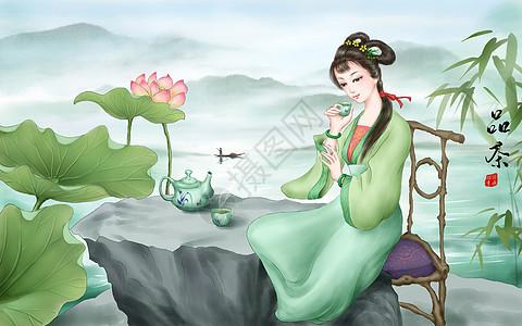 茶文化品茶图片
