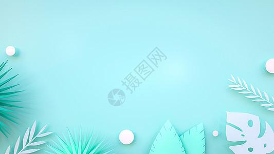 绿色剪纸叶子图片