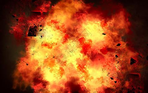 火焰爆炸背景图片