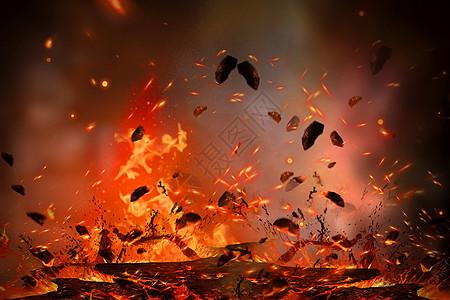 红色火焰背景图片