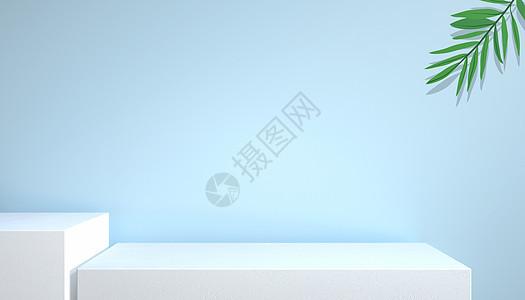 C4D小清新展台图片