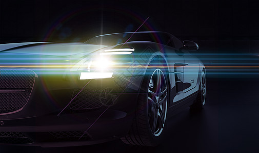 汽车灯光场景图片