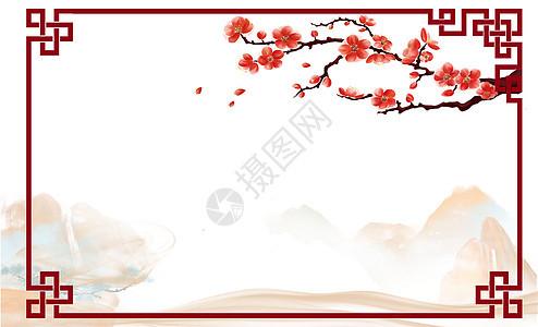 中国风复古边框背景图片