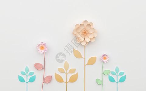 小清新花语背景图片