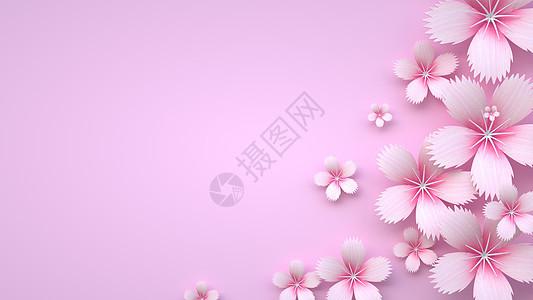 立体花语背景图片