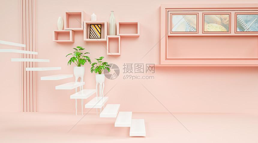 创意清新室内场景图片