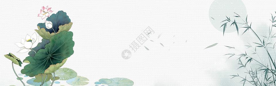 水墨荷花背景图片