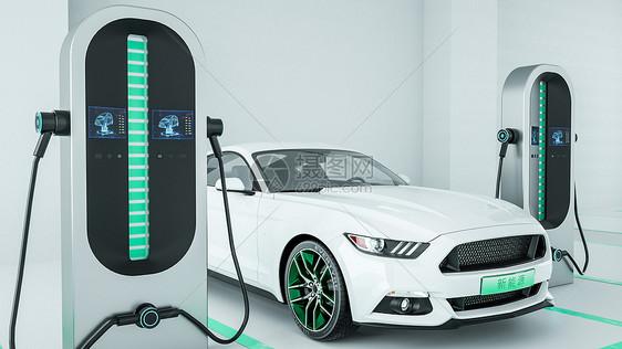新能源充电桩场景图片