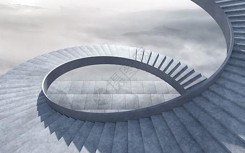 C4D创意天梯图片