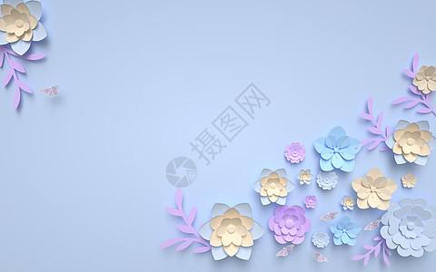 清新浮雕花背景图片