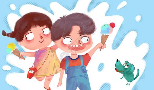 夏日的冰淇淋图片