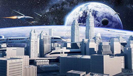科幻城市场景图片