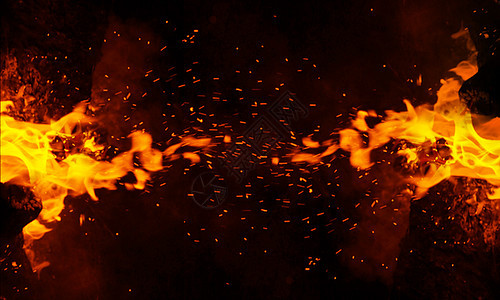 火焰背景(PS笔刷)图片
