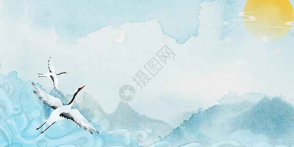 清新中国风背景图片