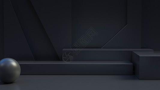 黑色展台图片