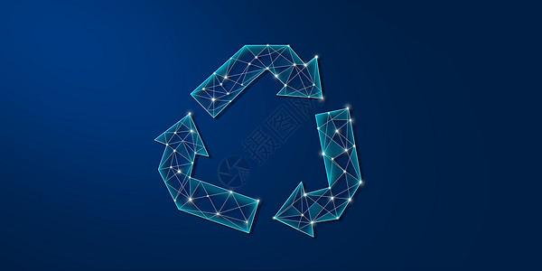 垃圾回收利用图标背景图片