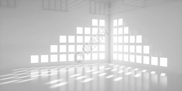 白色大气商务室内建筑空间图片