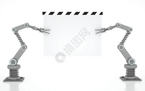 现代工业机械臂场景图片
