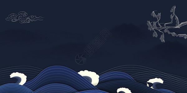 大气蓝色背景图片